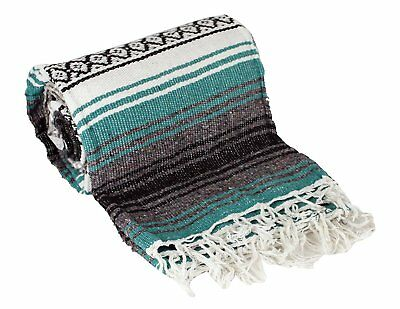 blanket mexican serape x throw vintage falsa yoga woven southwestern saltillo