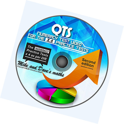 QTS Numeracy Skills Test: audio-visual WINDOWS CD for all 4 Practice Tests 2016-