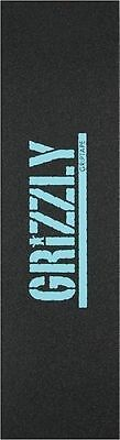 """Grizzly Professional Stamp Print  Skateboard Tape Sheet Grip Tape 9 x 33"""" Blue"""