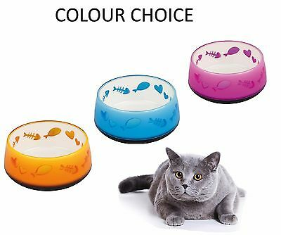 Trixie 0.3L Non Slip Rubber Base Cat Plastic Food Water Bowl Colour Choice 24420