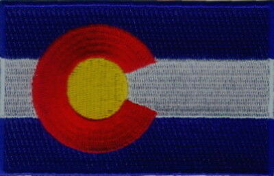 "US State of Colorado Flag Embroidered Patches 3.5""x2.25"""