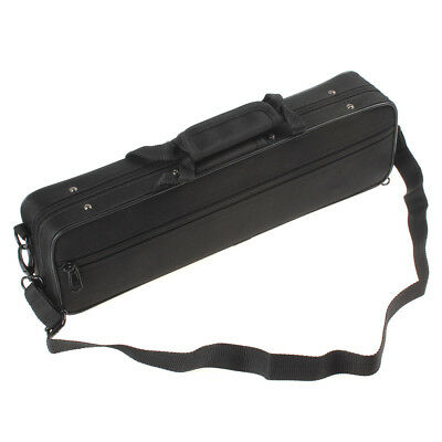 39 x11 x 6cm Black Practical and Portable Flute Case Box with Shoulder Strap New