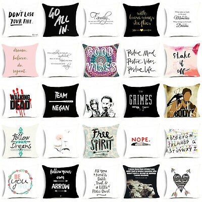 18'' funny words polyester pillow case cover sofa waist cuhsion cover Home Decor