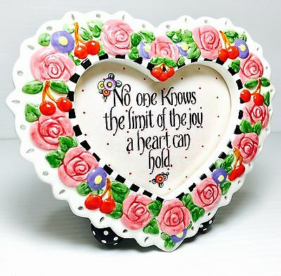 Mary Engelbreit Heart Frame: No One Knows the Limit of the Joy a Heart Can Hold