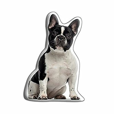 French Bulldog PIED Shaped Filled cushion ideal display bedroom gift dog lover