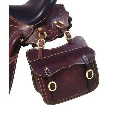 Australian Outrider Collection Leather Saddle Pocket Brown