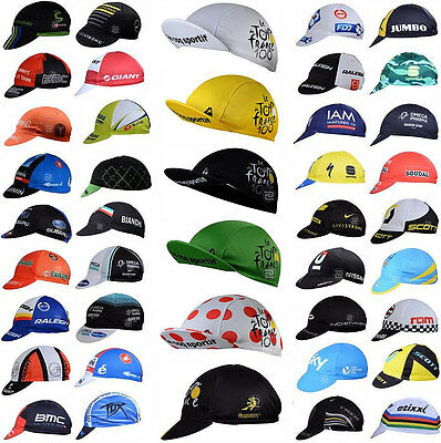 2017 Bicycle Team Unisex Cycling Cap Bicycle Visor Hat Riding Road Headbands