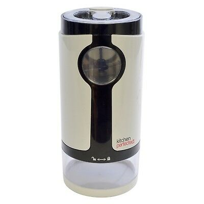 Kitchen Perfected 180W Electric Coffee Bean Grinder Mill 60g Capacity White New