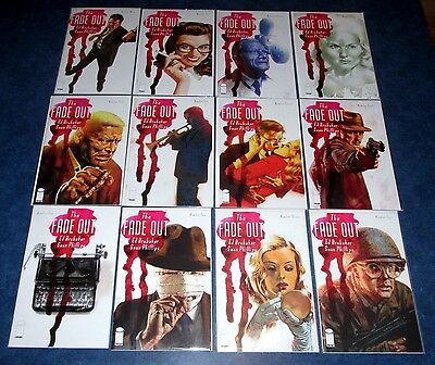 the FADE OUT 1 2 3 4 5 6 7 8 9 10 11 12 1st print set ED BRUBAKER iMAGE COMIC