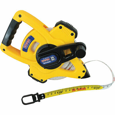 Faithfull Geared Fibreglass Tape Measure Imperial & Metric 100ft / 30m 13mm