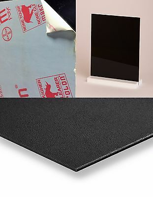 """Palsun Polycarbonate Black Suede FR-Rated Sheet .093 (2mm) x 4"""" x 48"""" (24 Pack)"""