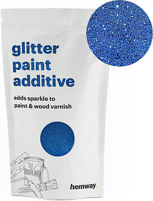Hemway Sapphire Blue Crystal Glitter for emulsion wall paint 100g sparkle DIY