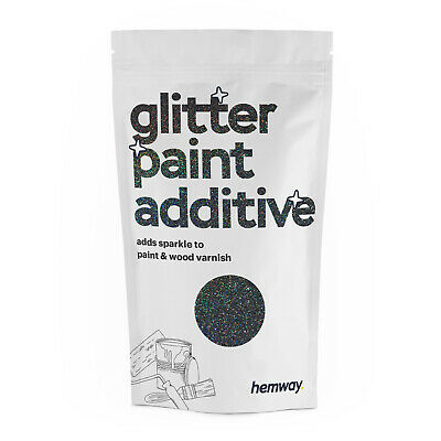 Hemway Black Holographic Crystal Glitter for emulsion wall paint 100g sparkle
