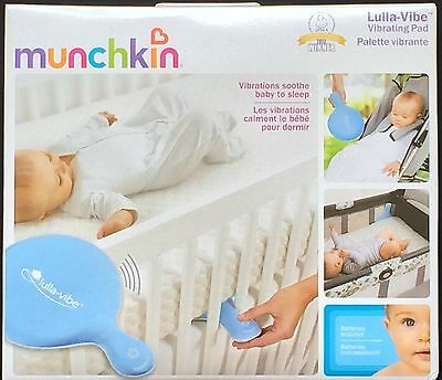 NEW Munchkin Lulla-Vibe Vibrating Baby Pad - Vibrations Soothe Baby To Sleep