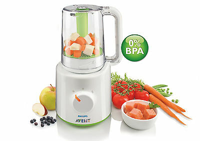 Philips AVENT Combined Baby Food Steamer and Blender Compact SCF870/21 BRAND NEW