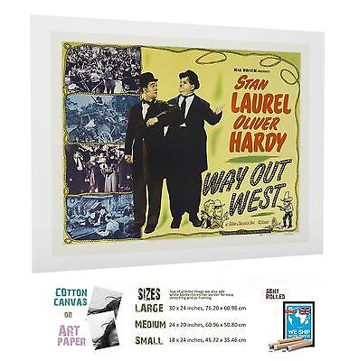 FILM CLASSIC Comedy Way Out West Laurel And Hardy MOVIE POSTER