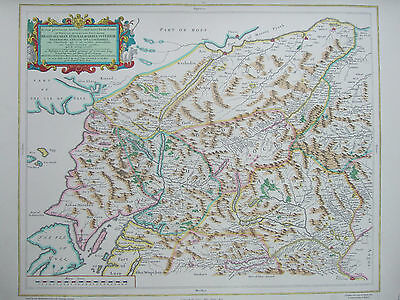 Fine Print of Antique Blaeu Map, Strathspey to Lorne and Atholl