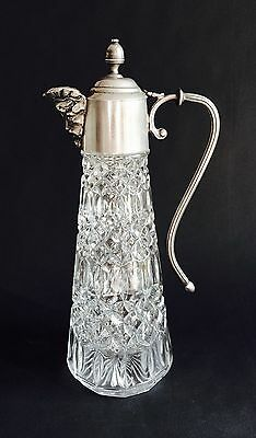 Vintage Falstaff Silver-Plated Glass Claret Jug, Wine Decanter