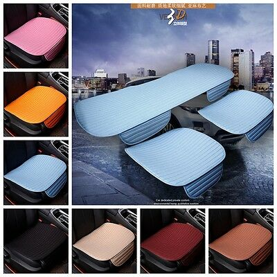 Car Comfort Front Seat Protect Mat Cover Pad Breathable Chair Flax Cushion Solid