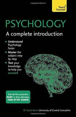 Psychology: A Complete Introduction: Teach Yourself, Mann, Sandi | Paperback Boo