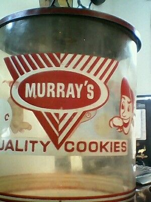 rare vintage murrays cookie co plastic/metal counter display container