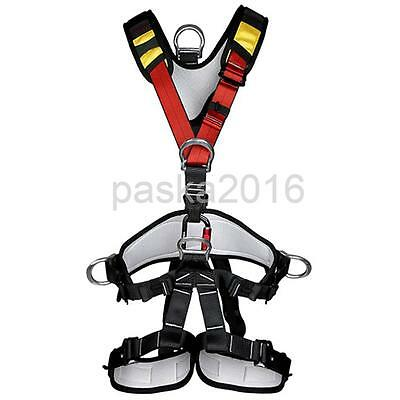 Outdoor Rock Climbing Rappelling Full Body Safety Harness Wearing Seat Belt