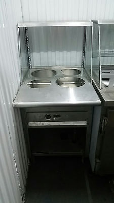 Stainless 4 Well Steam Table Soup Station, Natural Gas