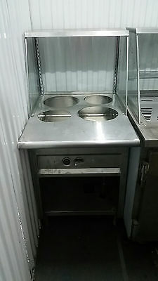 Stainless 4 Well Steam Table Soup Station