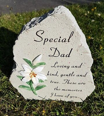 Dad Grave Memorial Ornament Remembrance Lilly Plaque Dad