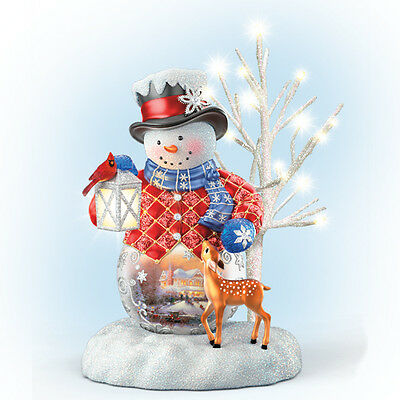 Sharing the Season Snow Wonderful Snowman Thomas Kinkade  Bradford Exchange