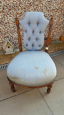 Lovely Antique Victorian mahogany button back nursing Chair