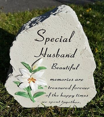 Husband Grave Memorial Ornament Remembrance Lilly Plaque Husband
