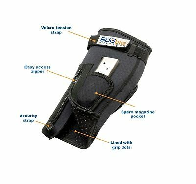 BUGbite Holster NEW MODEL  2.0 Ankle  RIGHT HAND Sizes A B C D  Brand New