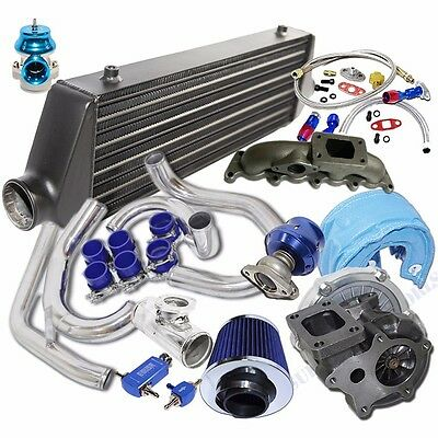 Turbo Kit T3/T4 Turbo + Black Intercooler for 00-05 Volkswagen Golf/ Jetta 1.8T