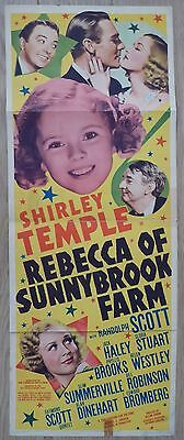 REBECCA OF SUNNYBROOK FARM (1938) original US Insert movie poster,Shirley Temple