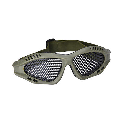 Tactical Shooting Airsoft CS Game Eye Protection Metal Mesh Goggle Mask Glass OZ