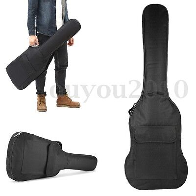 1.2m Guitar Double Straps Padded Electric Acoustic Soft Case Gig Bag Backpack