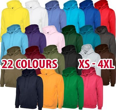 Mens & Womens Classic Hooded Sweatshirt Hoodie Jumper Sweat Top Cotton Warm Lot