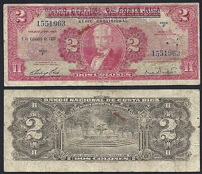 Costa Rica P234***2 Colones Ovp***nd 1967***vg***prov. Used***look Super Scan