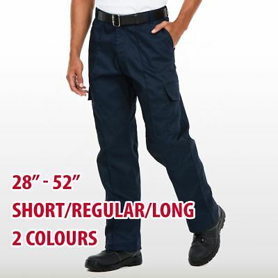 Mens & Womans Combat Cargo Trousers Black Navy Short Regular Long Leg Pants Lot