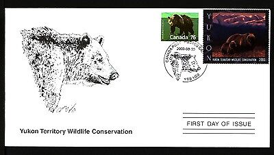 YUKON TERRITORY YW8d 2003 FIRST DAY COVER FDC GRIZZLY BEAR BY JIM McGEE