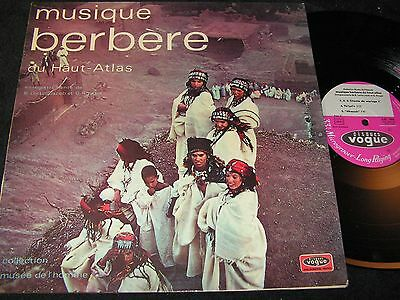 MUSIQUE BERBERE DU HAUT ATLAS / French LP 1971 VOGUE LD 786