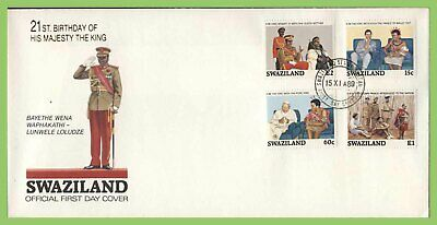 Swaziland 1989 21st Birthday of King Mswati III set First Day Cover