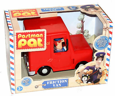 Postman Pat Friction Van with Pat & Jess figures Brand New  Post Van With Jess