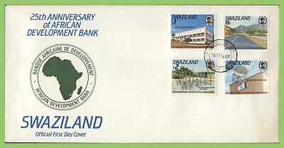 Swaziland 1989 25th Anniv of African Development Bank set First Day Cover