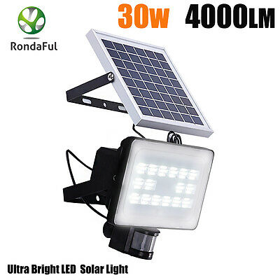 30W 64 LED Solar Sensor Light  Motion Detection Security Garden Floodlight Lamp