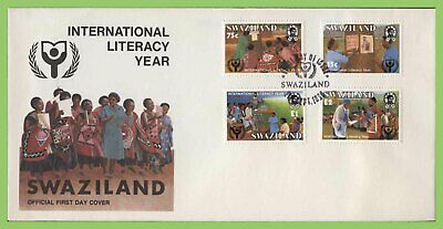 Swaziland 1990 International Literacy Year set on First Day Cover