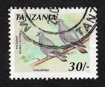 1990 Tanzania 30s African Wood Pigeon SG 809a FINE USED R18908