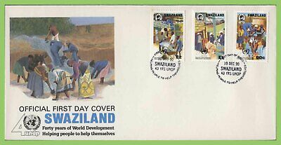 Swaziland 1990 40th Anniv of United Nations Development Programm First Day Cover