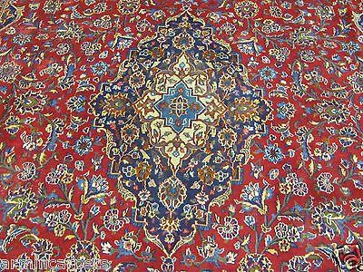 A Fantastic Old Handmade Mashaed Khorason Oriental Xl Carpet (408